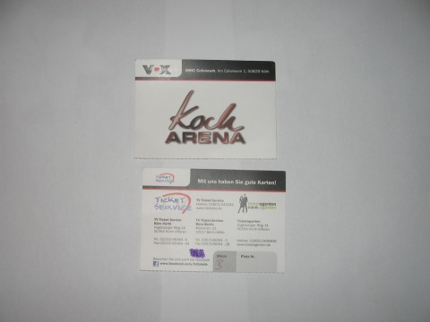 Fernsehstudio VOX Kocharena Tickets